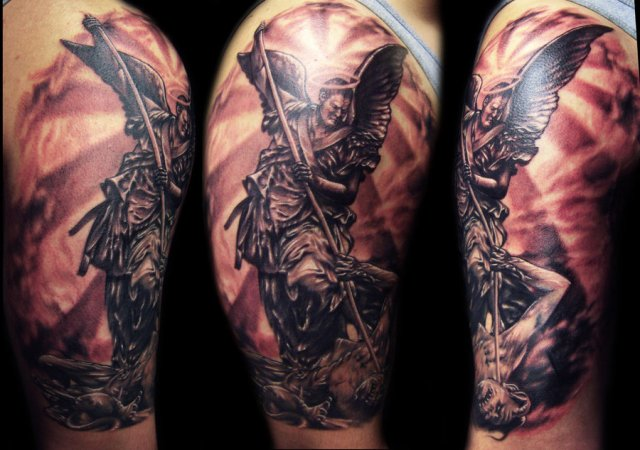 St__Michael_Tattoo_by_hatefulss
