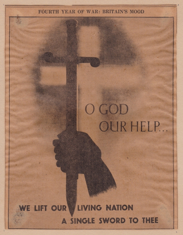 Image from a newspaper, presumably British, during WWII