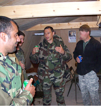 Breach-Bang-Clear_Hernandez and at typical hangout with French and Afghans
