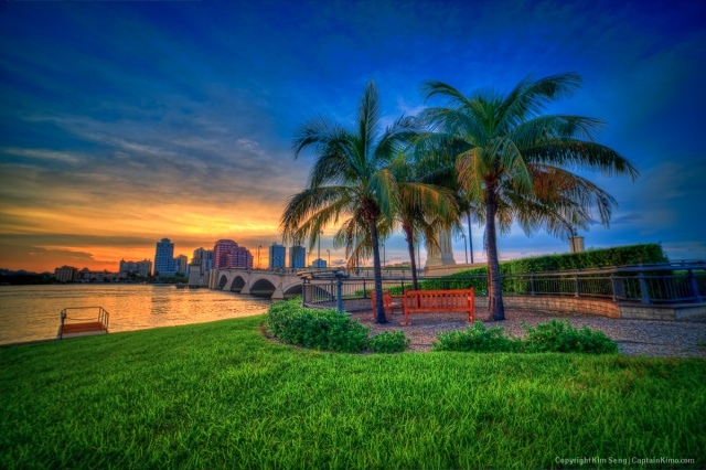 Sunset at West Palm Beach Palm Beach County Florida