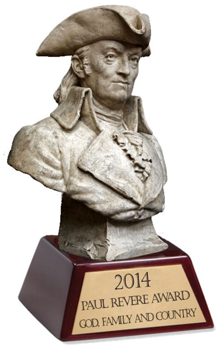 2014 Paul Revere Award for God Family And Country